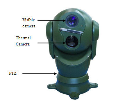 30X Optical Zoom Dome Dual Thermal Camera Long Range Ptz Camera For Vehicle Mounted